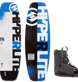 HO Sports Hyper 134 2019 Motive Wakeboard (M) w/Frequency 2020 WakeBoard Boot (A)