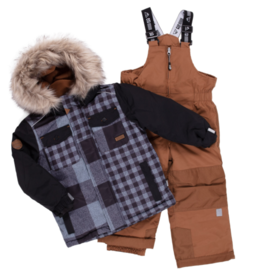 Nano Noruk Insulated Patchwork Plaid Snowsuit (Y)