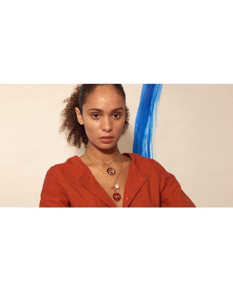 Lizzie Fortunato Jewels LFJ FORTUNE NECK RED 10