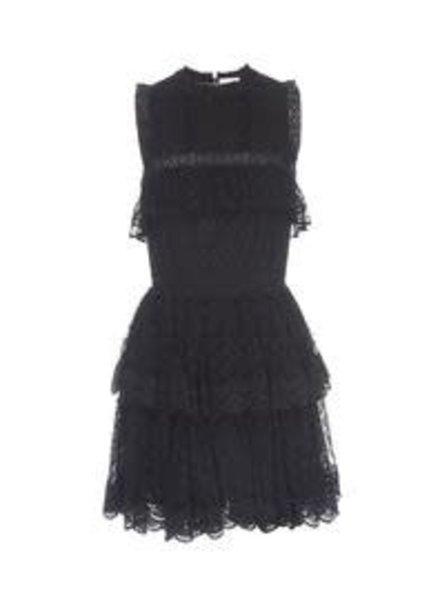 Misa MISA LIAT DRESS SWISS DOT/ LACE