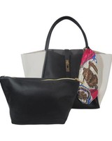 UN BILLION UN BILLION LACY TOTE BLACK/ WHITE