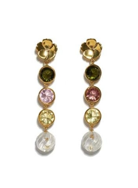 Lizzie Fortunato Jewels LFJ NONNA FLOWER EARRINGS