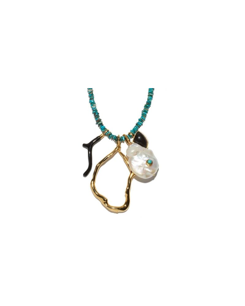 Lizzie Fortunato Jewels LFJ BLUE HORIZON NECKLACE