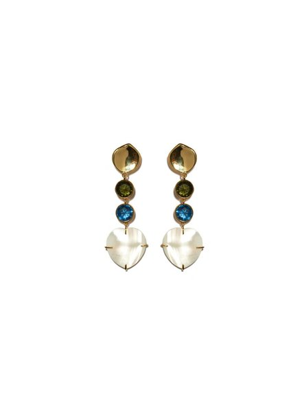 Lizzie Fortunato Jewels LFJ A LITTLE LOVE EARRINGS