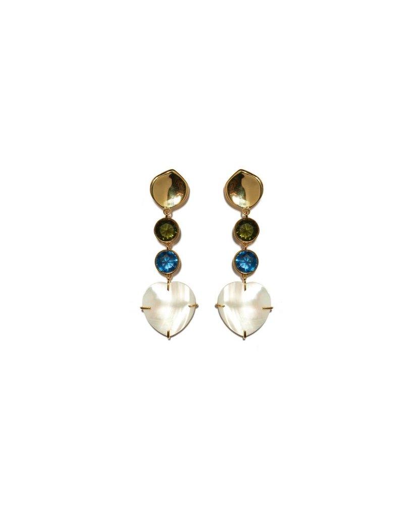 Lizzie Fortunato Jewels LFJ A LITTLE LOVE EARRINGS