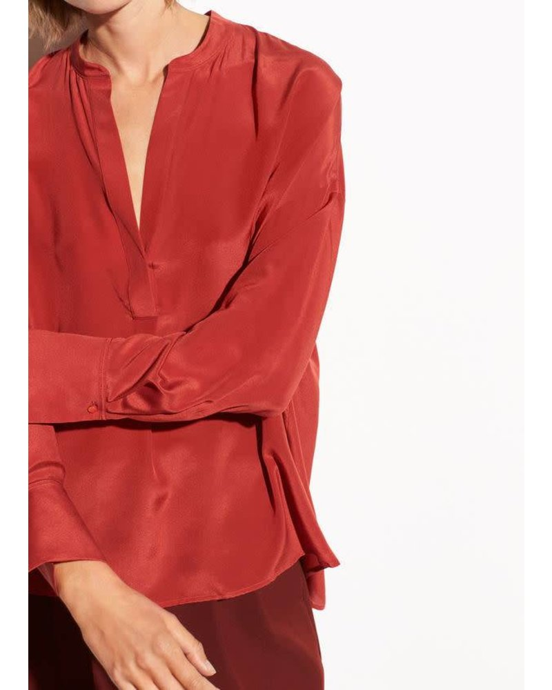 Vince Clothing VINCE BAND COLLAR BLOUSE