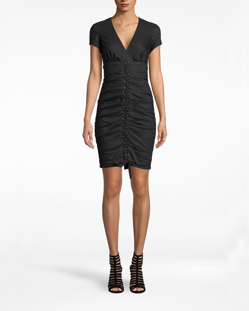 Nicole Miller NM D-RING LACE UP DRESS