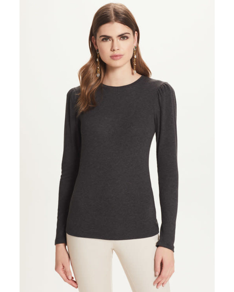 GOLDIE GOLDIE RIBBED L/S PUFF SHOULDER