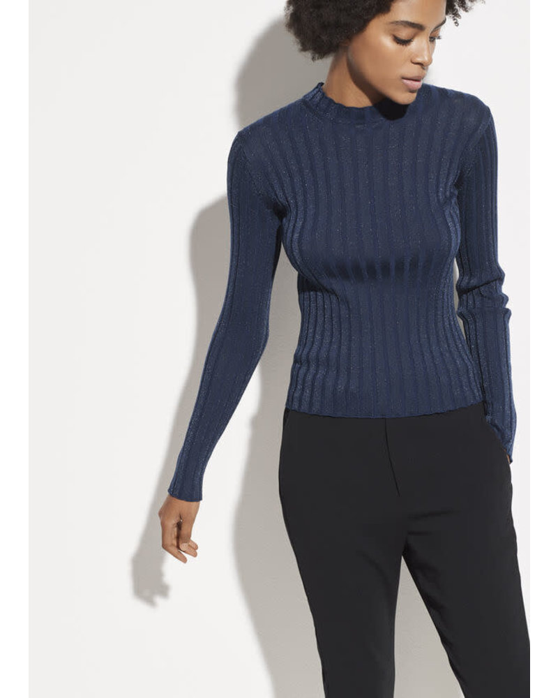 Vince Clothing VINCE RIB MOCK PULLOVER