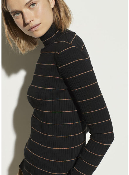 Vince Clothing VINCE STRIPED RIB TURTLE