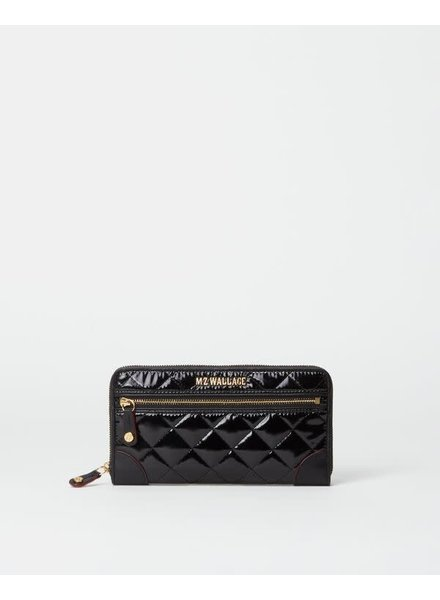 MZ Wallace MZ CROSBY LONG WALLET BLACK LACQUER