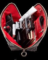 KUSSHI KUSSHI MAKEUP BAG VACATIONER GREY/ RED