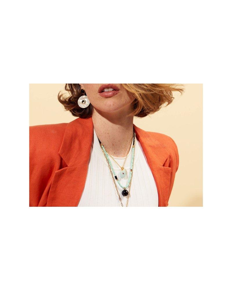 Lizzie Fortunato Jewels LFJ ORBIT NECKLACE