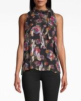 Nicole Miller NM BOUQUET LUREX SLVLS TOP