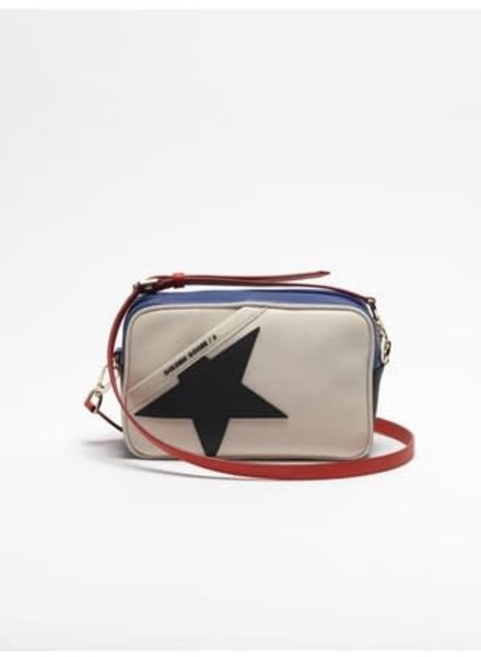 GOLDEN GOOSE GG STAR BAG WH/BL/RED