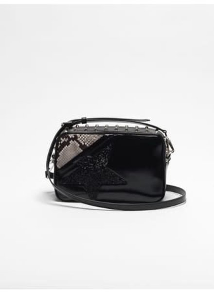 GOLDEN GOOSE GG STAR BAG BLK/ PYTHON