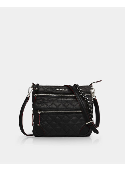 MZ Wallace DOWNTOWN CROSBY CROSSBODY BLACK