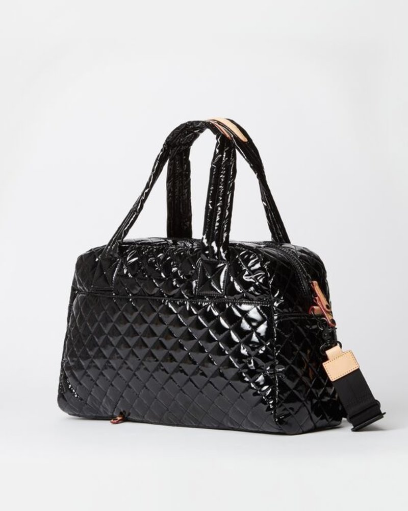MZ Wallace MZ JIMMY TRAVEL SMALL BLACK LACQUER
