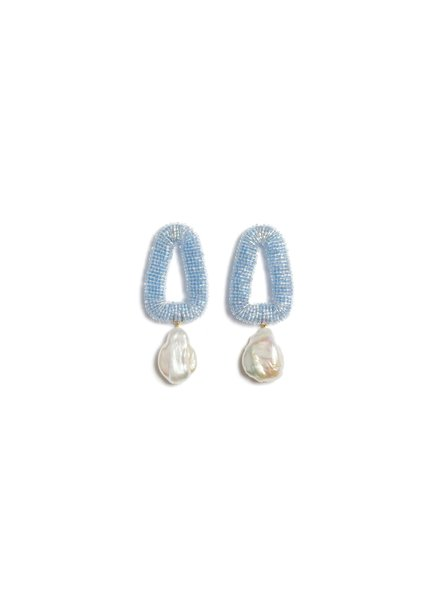 Lizzie Fortunato Jewels LFJ BLUE OASIS EARRINGS