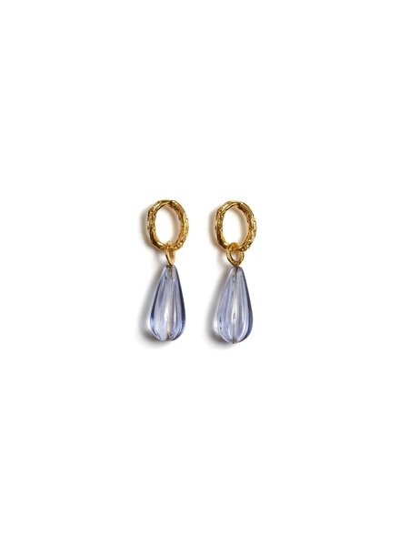 Lizzie Fortunato Jewels LFJ SKY TEARDROP EARRINGS