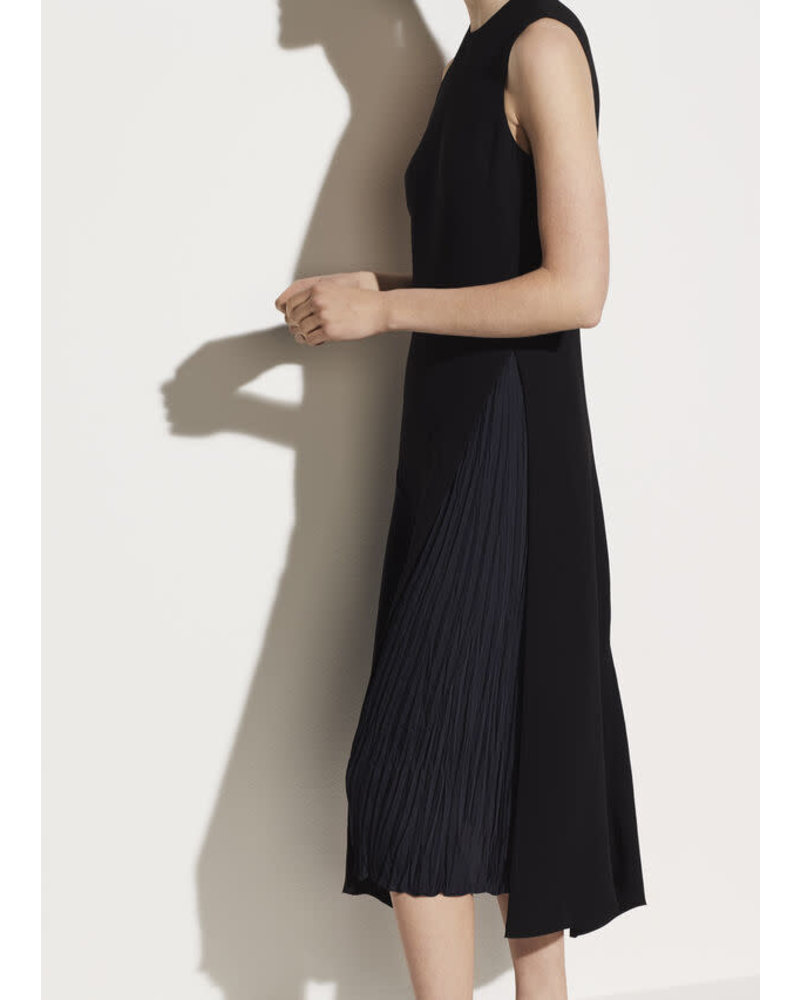 Vince Clothing VINCE MIXED PANEL DRESS