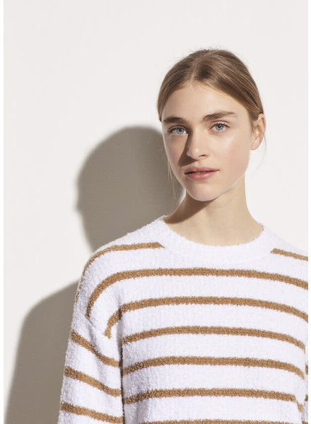 Vince Clothing VINCE STRIPED WAFFLE STITCH CREW