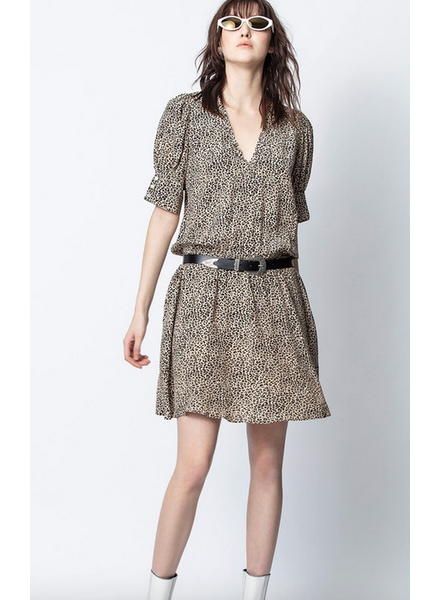 Zadig & Voltaire ZV RUSSEL PRINT DRESS NATURAL SIZE L
