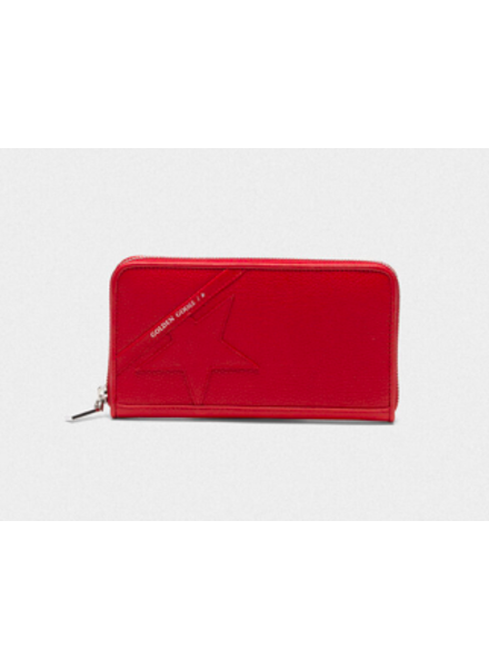 GOLDEN GOOSE STAR L ZIP WALLET RED
