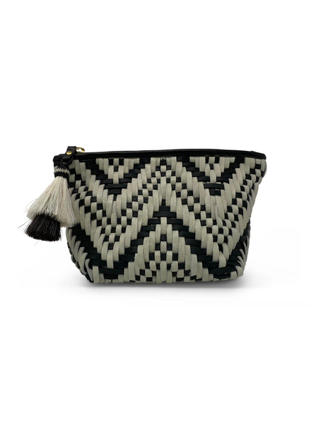 Kempton WOVEN BLACK/ WHITE MAKE UP BAG