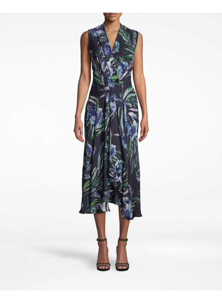 Nicole Miller BLUE MIRAGE HI LO DRESS