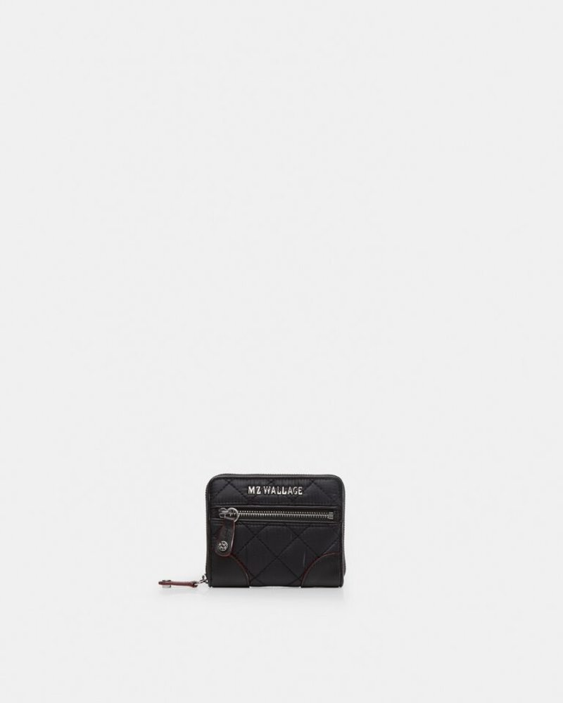 MZ Wallace MZ WALLACE CROSBY MINI WALLET XS BLACK