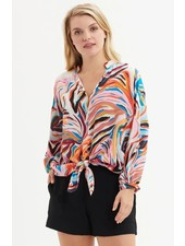 MARIE OLIVER HENDRIX BLOUSE TIGER SIZE XS