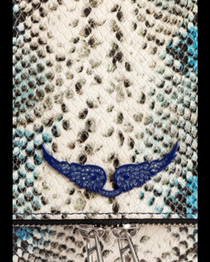 Zadig & Voltaire Zadig & Voltaire ROCKY PAINTED WILD BLUE