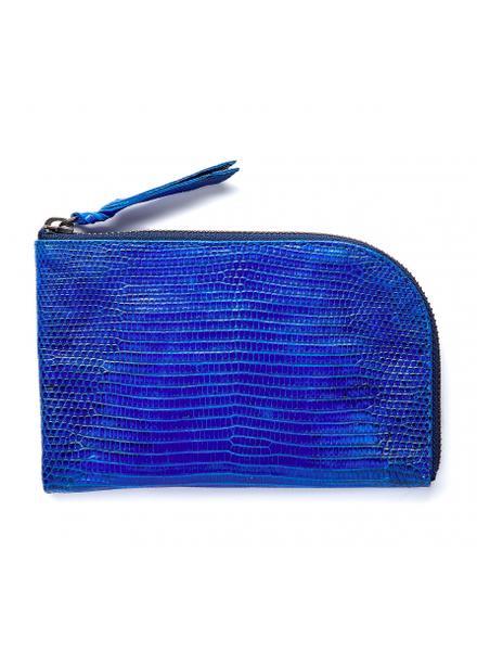 CLARIS VIROT CV MAX WALLET BLUE LIZARD
