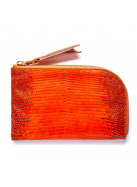 CLARIS VIROT CV MAX WALLET ORANGE LIZARD