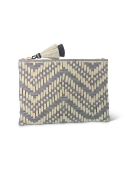 Kempton TRESCO SMALL POUCH SMOKE/CHALK