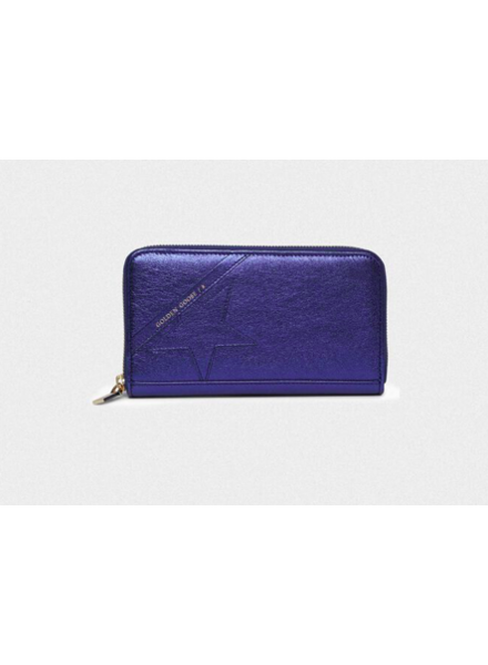 GOLDEN GOOSE GG STAR L ZIP WALLET BLUE