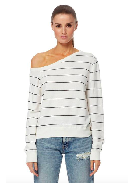360 CASHMERE DIANE OPTIC WHITE/ NAVY SIZE L