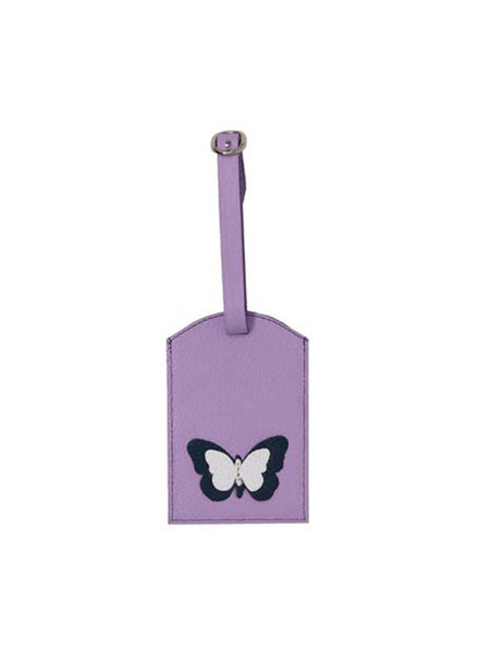 ELIZABETH SUTTON ES LUGGAGE TAG LAVENDER/WHITE/NAVY