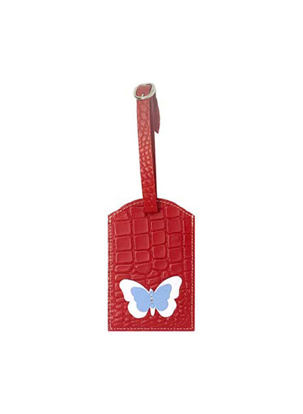 ELIZABETH SUTTON ES LUGGAGE TAG LT BLUE/RED/WHITE