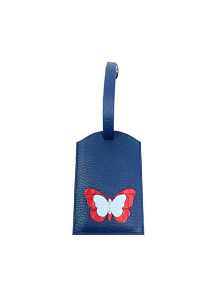ELIZABETH SUTTON ES LUGGAGE TAG NAVY/RED/LT BLUE