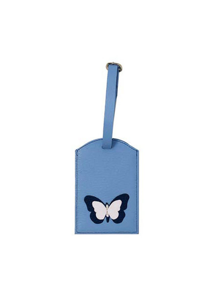 ELIZABETH SUTTON ES LUGGAGE TAG LT BLUE/NAVY/WHITE