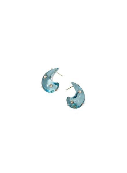 Lizzie Fortunato Jewels LFJ ARP EARRINGS IN DOTTED AQUA