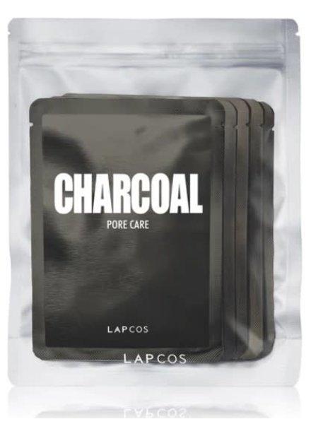 LAPCOS LAPCOS CHARCOAL SHEET MASK 5 PACK BLACK