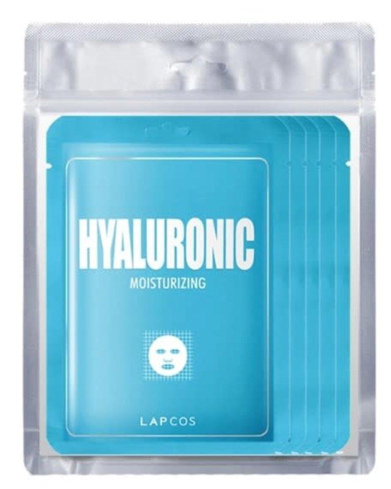 LAPCOS LAPCOS HYALURONIC ACID SHEET MASK 5 PACK BLUE