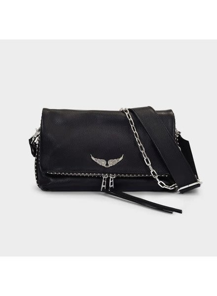Zadig & Voltaire ZV ROCKY CLUTCH GRAINED LEATHER NOIR