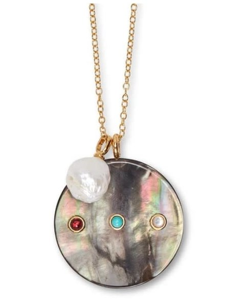 Lizzie Fortunato Jewels LFJ EQUATOR PENDANT NECKLACE