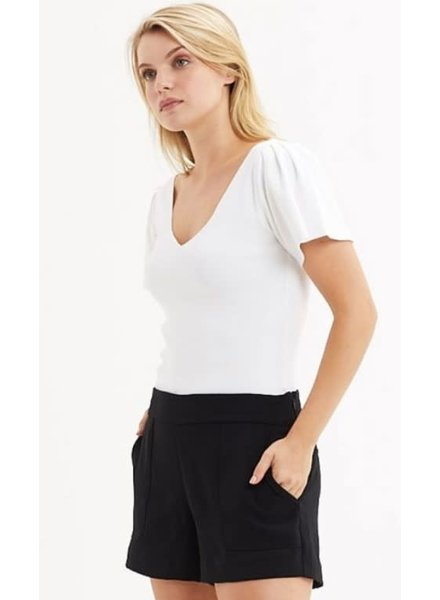 MARIE OLIVER MO PLEATED SLV KNIT BLOUSE