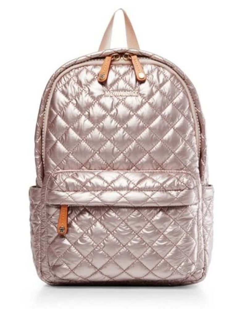 MZ Wallace MZ CITY METRO BACKPACK XS ROSE GOLD METAL