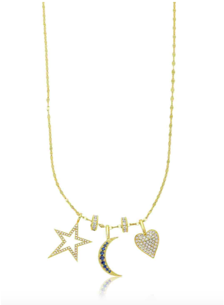 MELINDA MARIA MM SHOOT FOR THE MOON NECKLACE